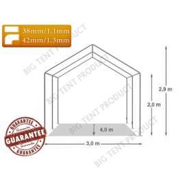 3x4m BIGTENT DEPO STAND raktár sátor fehér