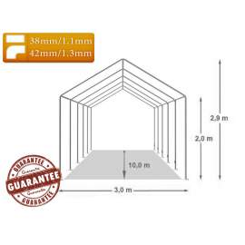 3x10m BIGTENT DEPO STAND raktár sátor fehér