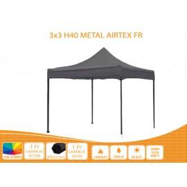 3x3  Metal H40 AIRTEX S FIRE tetővel nyitható pavilon több színben
