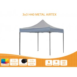 3x3  Metal H40 AIRTEX tetővel,nyitható pavilon több színben