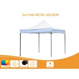3x3 Metal H40 nyitható pavilon, MIKRON tetővel több színben