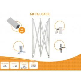 Bigtent 3x3 Metal BASIC nyitható pavilon,MIKRON tetővel több színben
