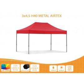 3x4,5  Prof Metal H40 AIRTEX tetővel,nyitható pavilon több színben