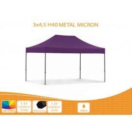 3x4,5 Metal H40 nyitható pavilon, MIKRON tetővel több színben