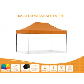 3x6  Metal H40 AIRTEX S FIRE tetővel nyitható pavilon több színben