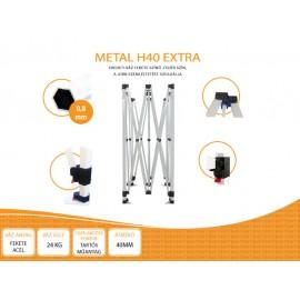 3x6  Metal H40 AIRTEX tetővel,nyitható pavilon több színben