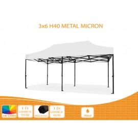 3x6 Metal H40 nyitható pavilon, vízálló MIKRON tetővel több színben