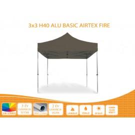 Bigtent 3x3 ALU H40 AIRTEX S FIRE tetővel nyitható pavilon