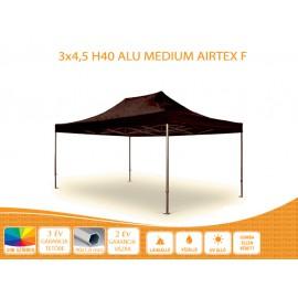 Bigtent 3x4,5  ALU H40 AIRTEX S FIRE tetővel nyitható pavilon