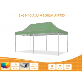 Bigtent 3x6  ALU H40 AIRTEX tetővel,nyitható pavilon