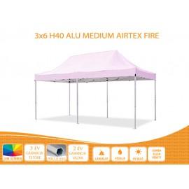 Bigtent 3x6  ALU H40 AIRTEX S FIRE tetővel nyitható pavilon