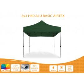 Bigtent 3x3 ALU Basic H40 AIRTEX tetővel,nyitható pavilon